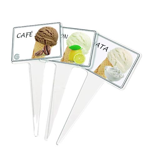 Pincho de metacrilato para helados